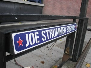 Joe Strummer subway in London